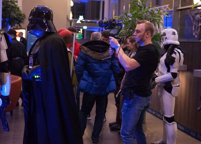 Videodreh auf der Star Wars 9 Premiere